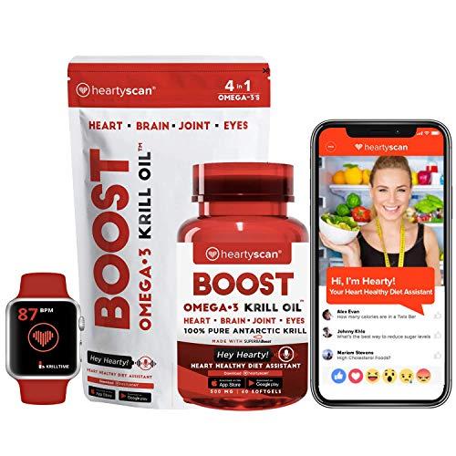 "Boost Omega-3 Krill Oil &""Hey Hearty!"" Heart Healthy Diet Ap"