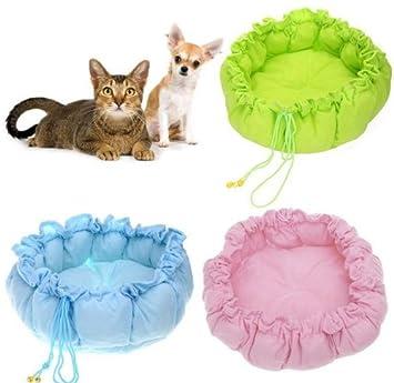 Nueva mascota cachorro alfombrilla de cama nido para perros perro de la perrera PP algodón Lovely nido cálido casa Cozy calabaza Mat (rosa): Amazon.es: ...