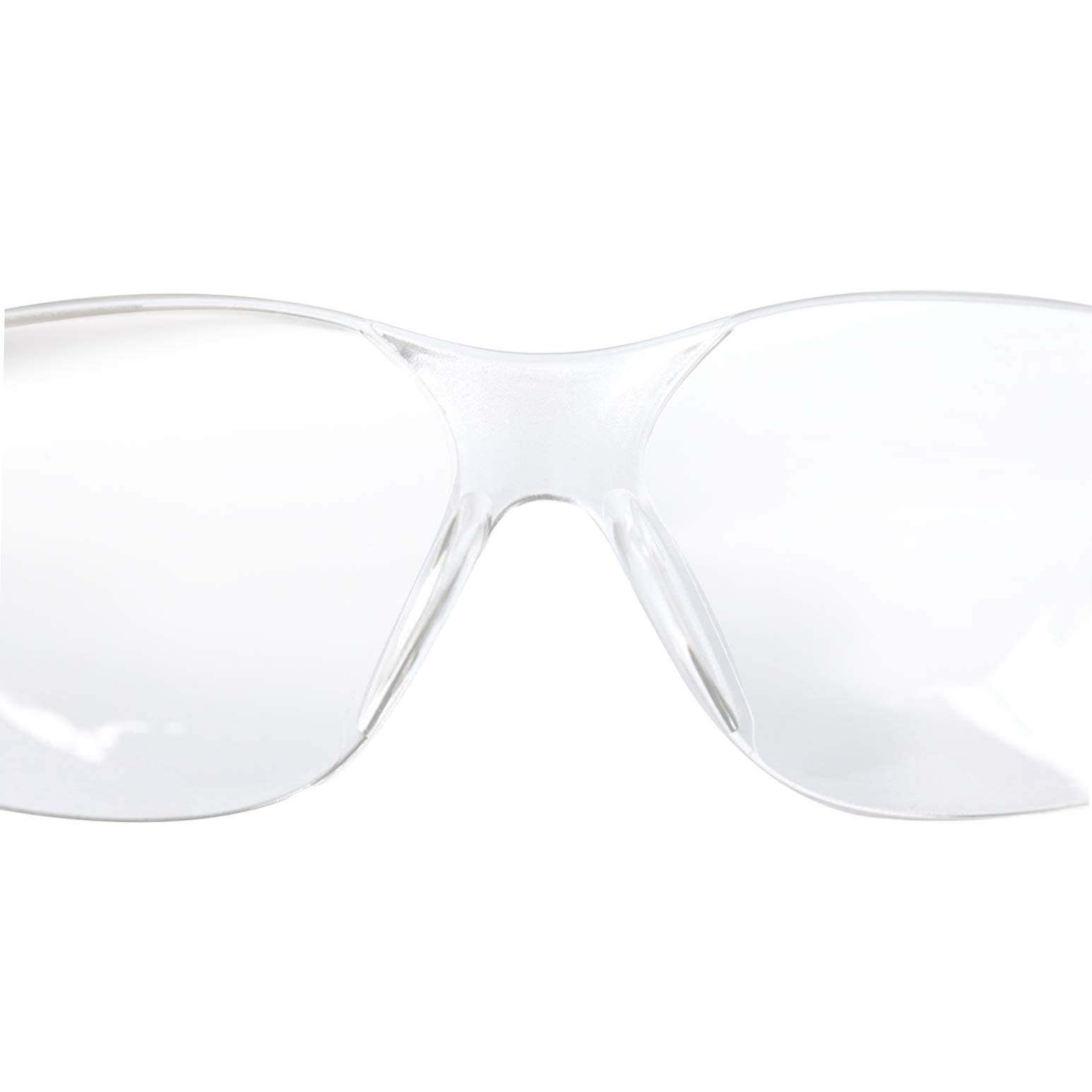 BISON LIFE Safety Glasses | One Size, Clear Protective Polycarbonate Lens, Clear Temple, 12 per Box (Case of 12 boxes, 144 pairs total) by BISON LIFE (Image #4)
