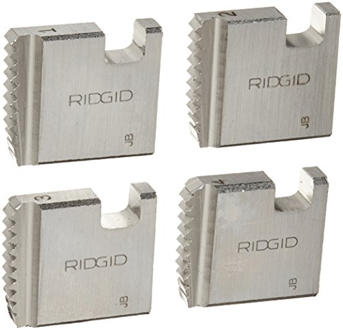 RIDGID 37835 Manual Threader Pipe Dies, Right-Handed Alloy NPT Pipe Dies with Nominal Pipe Size of 1-Inch for Ratchet Threaders or 3-Way Pipe Threaders