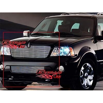 03-04 Lincoln Navigator Billet Grille Grill Combo Upper+Lower Insert # L67744A
