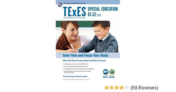 .com: texes special education ec-12 (161) book + online (texes ...