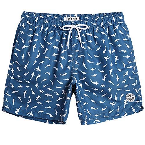 MaaMgic Mens Quick Dry Swim Trunks Flamingo Beach Boardshorts with Mesh Lining Bathing Suit Sports Shorts