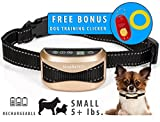 Best Dog Training Collar. Shock Collar Stops Barking. For Small, Medium and Large Dogs. The Best Barking Control Device. Includes FREE BONUS Training Clicker !