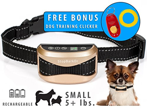 Best Dog Training Collar. Shock Collar Stops Barking. For Small, Medium and Large Dogs. The Best Barking Control Device. Includes FREE BONUS Training Clicker ! Review