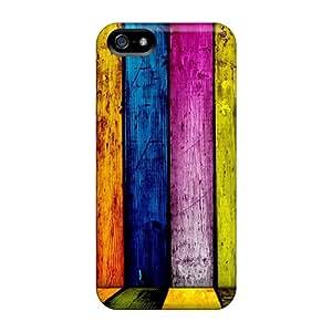 New Premium Flip Case Cover Rainbow Panel Skin Case For Iphone 5/5s