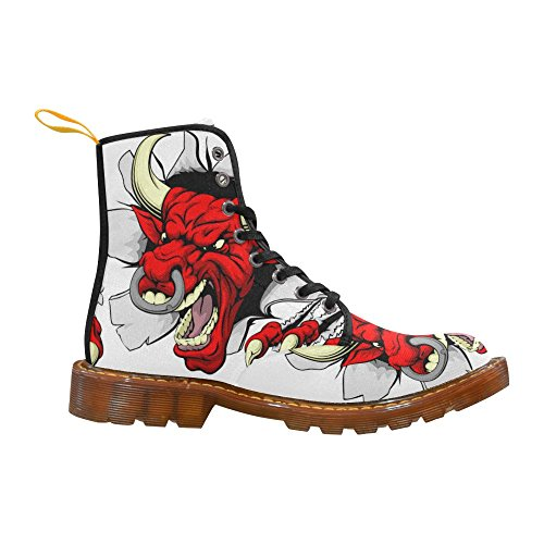 D-story Chaussures Red Bull Animal Lace Up Martin Bottes Pour Les Femmes