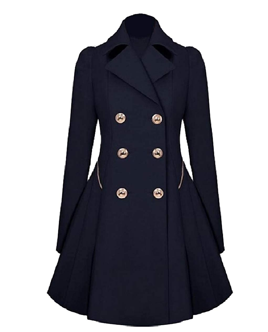 Tryist Womens Duster Jacket Classic British Style Tunic Outwear Trench