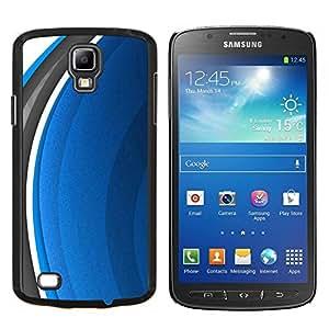EJOOY---Cubierta de la caja de protección para la piel dura ** Samsung Galaxy S4 Active i9295 ** --Resumen Azul