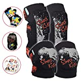 Innovative Soft Kids Knee and Elbow Pads with Bike Gloves I Toddler Protective Gear Set w/Mesh Bag I Comfortable & CSPC Certified I Bike, Roller-Skating, Skateboard Knee Pads for Kids Child Boys Girls