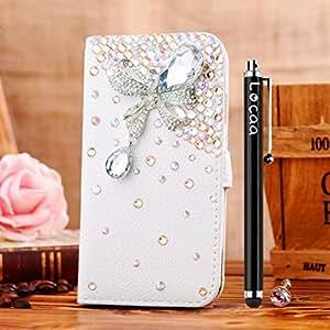 Locaa(TM) For HTC Desire 530 Desire530 3D Bling Case Funda 3 IN 1 Accesorios Funda Cover Cas Shell Caso Alta Calidad Piel Cuero Para Bumper Protector Phone [General 1] - piedra lluvia