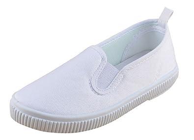 843aee3843 B G Kids Canvas White Uniform Sneaker(Toddler Little Kid Big Kid) (