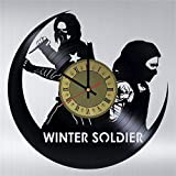 Bucky Barnes superhero Marvel Comics vinyl wall clock great gift for men, women, kids, girls and boys, birthday, christmas beautiful home decor - unique design that made out of vinyl LP record