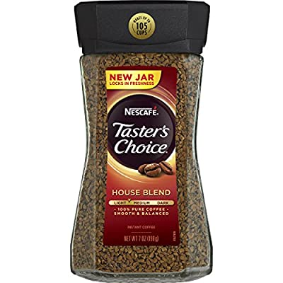 Nescafe Taster's Choice Instant Coffee, House Blend, 7 Ounce from Nescafe