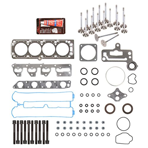 Evergreen HSHBIEV7015 Head Gasket Set Head Bolts Intake Exhaust Valves Fits 06-08 Suzuki Forenza Reno 2.0L 2.2L X20SE X22SE A20DMS