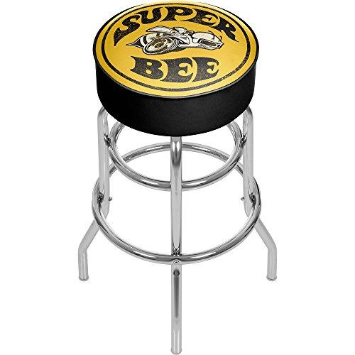 Trademark Gameroom Super Bee Dodge Padded Swivel Bar Stool (Trademark Bar Stools)