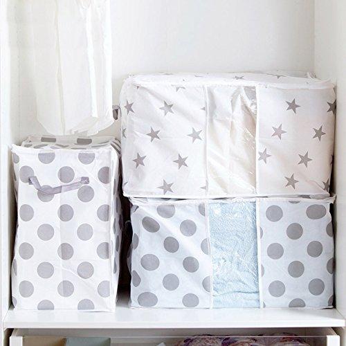 Youkara 100L pieghevole contenitore sottoletto in sacchetto in tessuto con finestra trasparente organizer per biancheria da letto trapunta coperte maglioni lenzuola cuscini