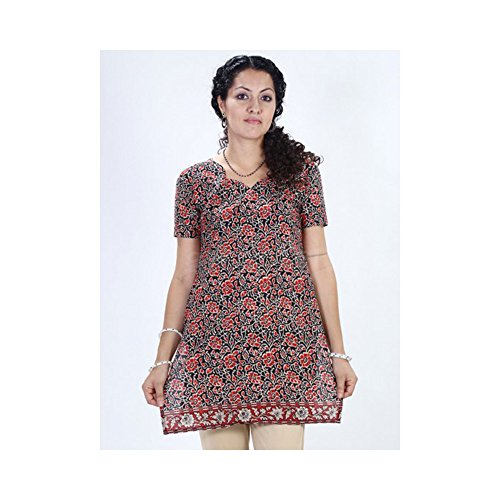 Top Cotton Printed Mehroon