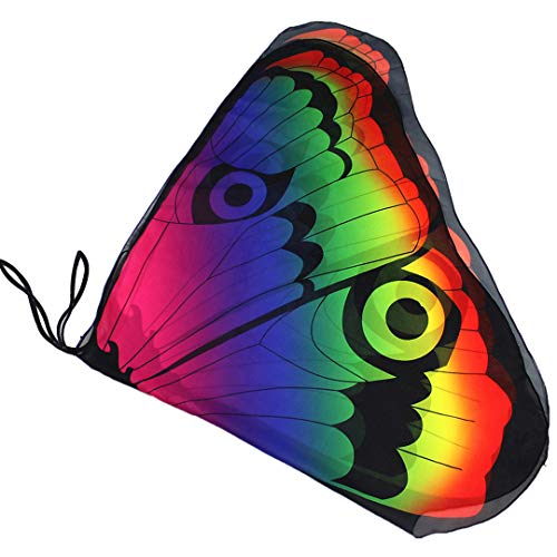 Novia's Choice Kids Butterfly Wing Shawl Halloween Costume Play Cape Dress Up Dance Photo Shooting Wings(Rainbow) for $<!--$13.99-->