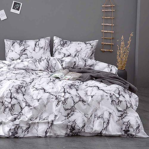(Duvet Cover Queen Set - 90x90 Luxury Microfiber Soft Lightweight Duvet Comforter Quilt Covers with Zip Ties - 3 Piece (1 double cover, 2 bed pillowcase without Sheet) for Women)