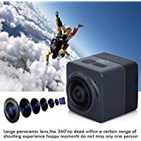 Floureon Cube 360 Degree Wide Angle Action Sports Camera Video DV WIFI H.264 1280x1042 Panorama Camera (Black)