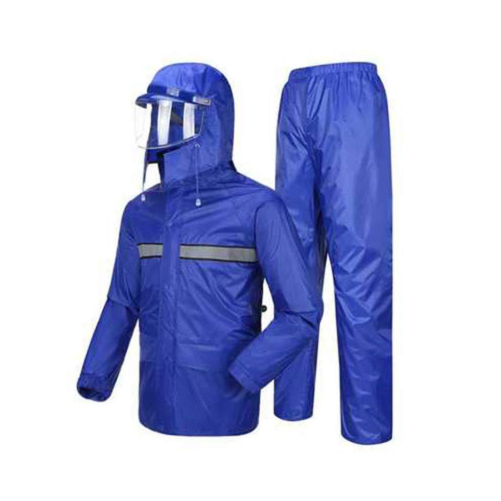 Royal bleu Medium Llsdls Pantalon imperméable Multi-Fonction imperméable Masque de Pluie imperméable Ensemble vêteHommests de Montagne Hommes et Femmes Adulte imperméable imperméable (Couleur   Navy, Taille   M)