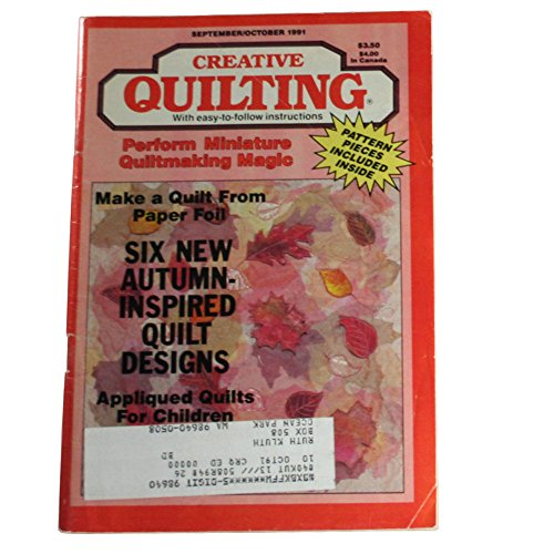 Creative Quilting Magazine September/October 1991