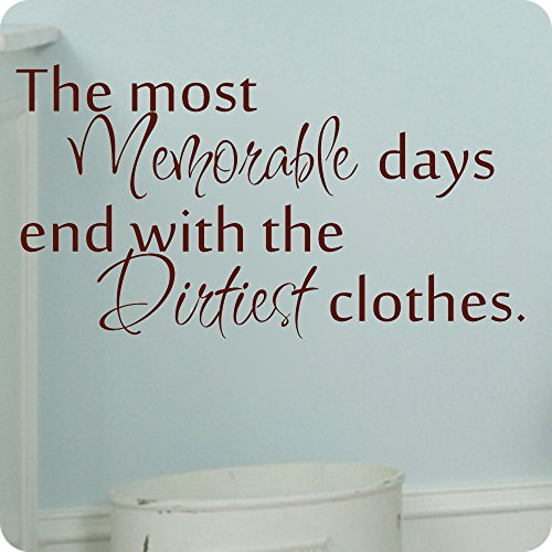 Laundry decals for wall memorable days