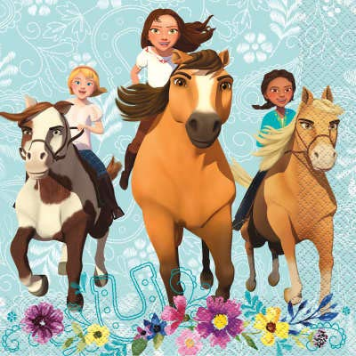 Spirit Riding Free Horse Birthday Party Supplies Set Napkins Plates Banner Decoration and Sticker Cups Tablecloth