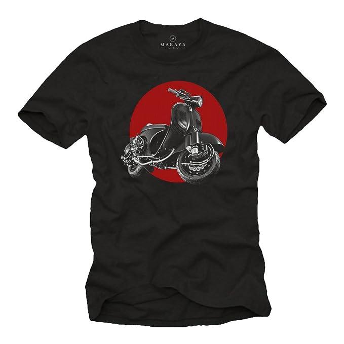 MAKAYA Vintage T-Shirt - Tuning Moto - Scooter Accesorios - Camiseta Motera Hombre: Amazon.es: Ropa y accesorios