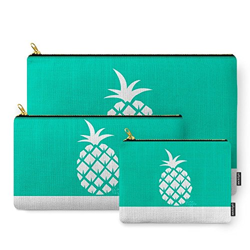 Society6 Pineapple V.5 Carry-All Pouch Set of 3