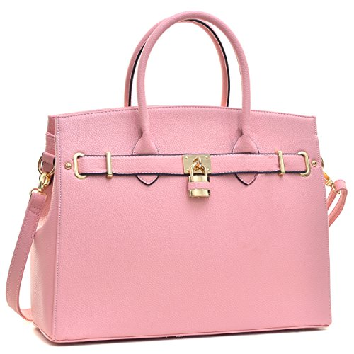Dasein Padlock Briefcase Handbags