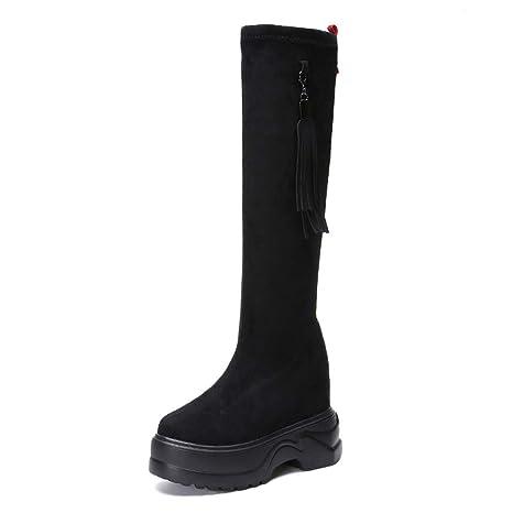 rivenditore di vendita 5ccf6 79314 DANDANJIE Stivali da Donna Tassel Stivali da Ginocchio Stile ...