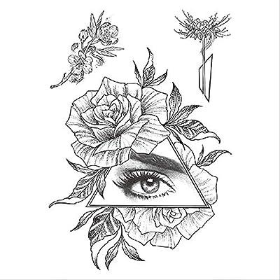 ZPF Tatuaje 1 unid moda mujer chica tatuaje temporal pegatina ...