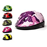 3Style Scooters - Kids Cycle Helmet In Pink Camouflage Design - For Cycling, Skating, Scooting - Adjustable Headband 53cm 54cm & 55cm - Vented Design - Suitable For Kids Aged 6, 7, 8, 9, 10 & 11 Years Old