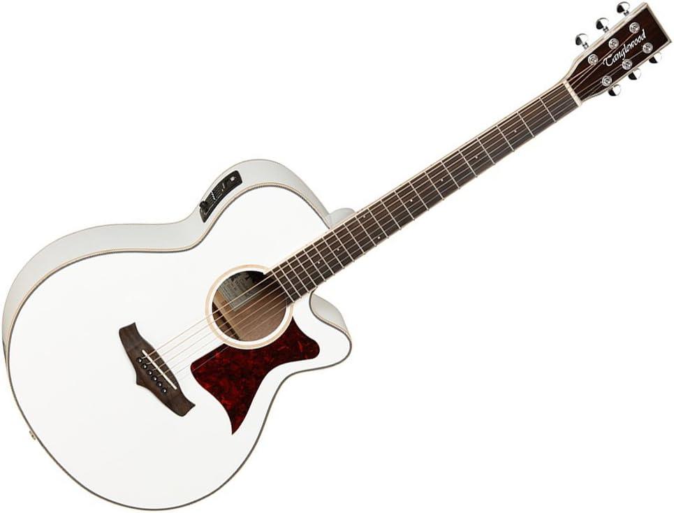 Tanglewood Super Folk TW4wh–Guitarra electroacústica, tapa de cedro macizo), con ecualizador