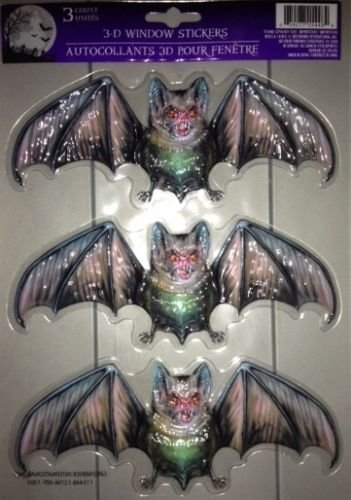 Happy Halloween Halloween Evil Vampire Bats 3D Window Stickers Dracula