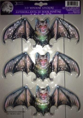 Happy Halloween Halloween Evil Vampire Bats 3D Window Stickers (Halloween Grim Reaper Prank)