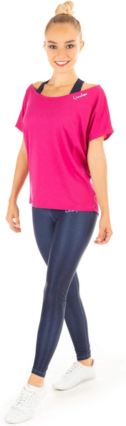 Dance Style Winshape Damen Ultra Leichtes Modal-Kurzarmshirt MCT002 deep-pink XL Fitness Freizeit Sport Yoga Workout