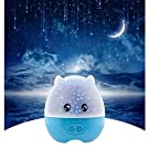 LIWUYOU Starry Sky Star Projector Creative Lovely Pig Shaped USB Romantic LED Projection Night Light Lamp with Speaker and Remote Control,Blue Green Red 3 Colors Changing ,Blue
