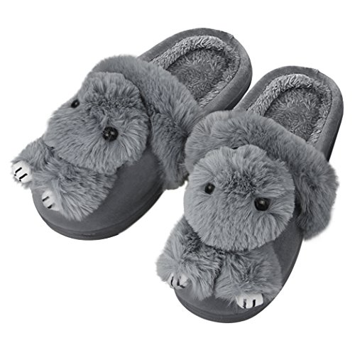 Rabbit Booties - Cartoon Doll Bunny Rabbit Slippers Womens Winter Cute Furry Soft Cozy Slippers Floor Shoes Ladies Girls Warm Plush Lining Booties Socks Outdoor Indoor Non-slip Footwear House Mules Clogs for Family