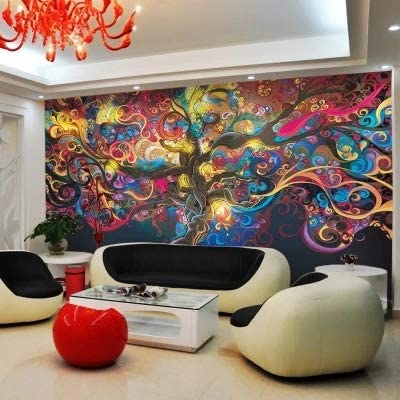 AQSGH Barrera mural a gran escala ecológica europea KTV 3D papel ...