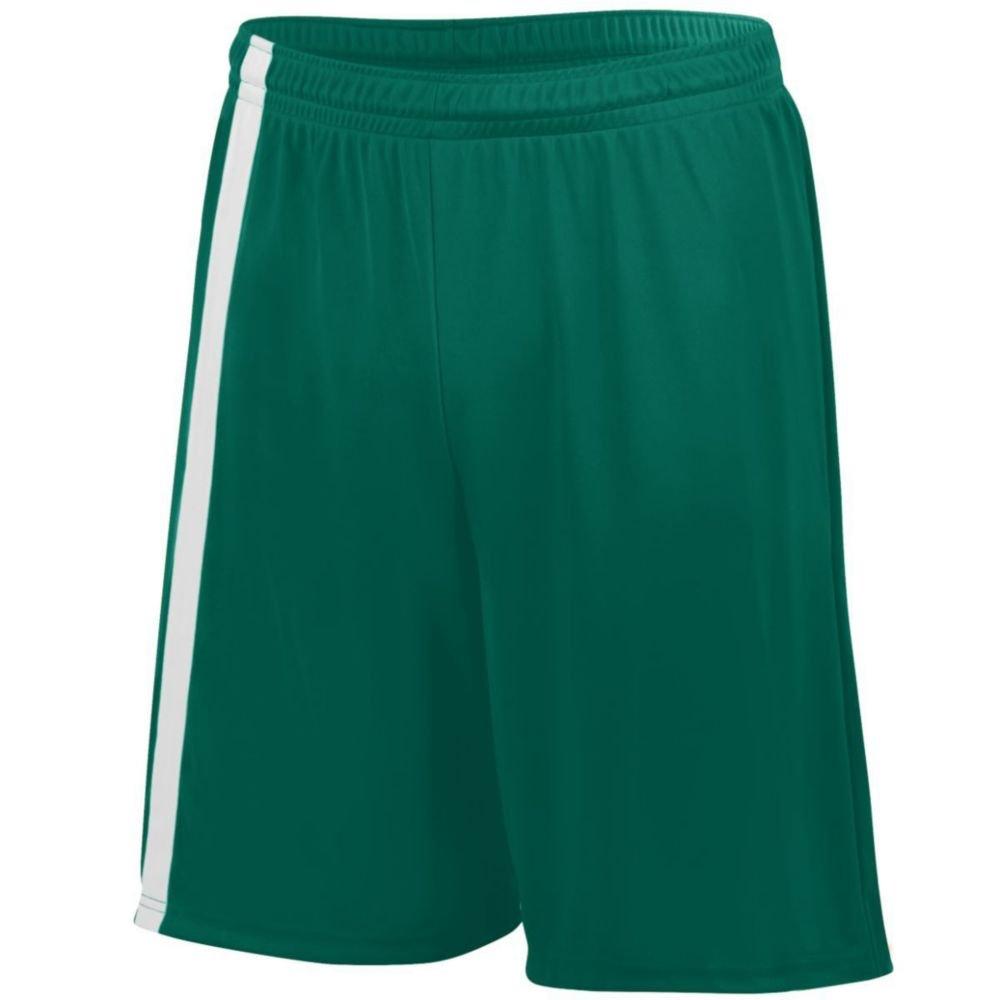 Augusta Athletic Attacking Third Short - Youth, Dark Green/White, XX Small