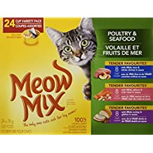 Meow Mix Poultry & Seafood Variety 24-pack Cat Food