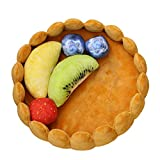 Fitlyiee Lovely Tart Pet Cushion Soft Plush Kennel Pet Bed Warm Mattress for Cats Dogs