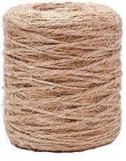 Amazinggirl Jutekoord koord natuurlijk jute touw - touw jute touw jute touw tuin knutselkoord voor huishouden handwerk DIY decoratie jute koord
