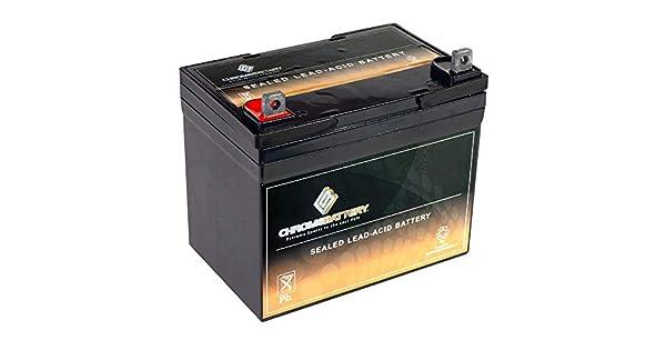 Amazon.com: 12 V 35 Ah Batería para jardín manera/Troy ...