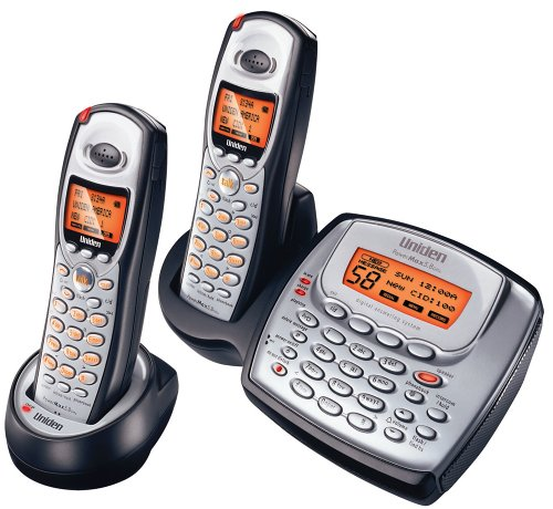 (Uniden TRU8885-2 5.8 GHz Digital Cordless Phone with Dual Handsets and Answering)
