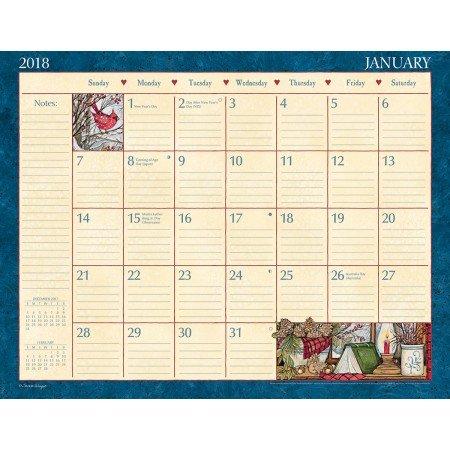 "LANG - 2018 Deskpad - ""Heart & Home"" - Artwork by Susan Winget - 12 Month Format, 22"" x 17"""