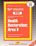 Health Restoration : Area II, Rudman, Jack, 0837359023